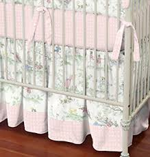 Moon Crib Bedding Carousel Designs Pink The Moon Toile 2