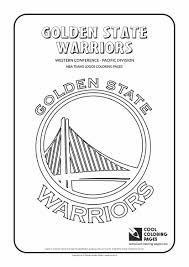 golden warriors nba basketball teams logos coloring pages
