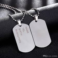 man name necklace images Wholesale new brand link chain man necklace military army dog tags jpg