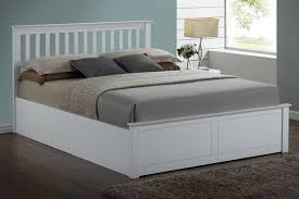 ottoman beds with mattress flintshire furniture pentre ottoman in white 5ft king size bed frame