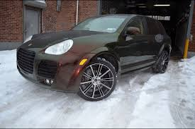 porsche cayenne matte black porsche cayenne flow black machined gwg wheels