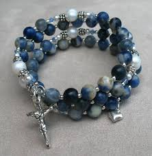 rosary bracelets rosary rosary wrap bracelets in one and five decade endless