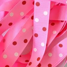 pink polka dot ribbon offray grosgrain polka dots and swiss dot printed ribbon
