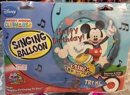 singing balloon sing a tune 28 inch mickey mouse balloon from category character