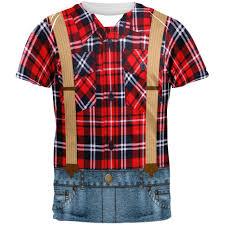 Peanuts Halloween T Shirts Halloween Lumberjack Costume All Over T Shirt U2013 Oldglory Com