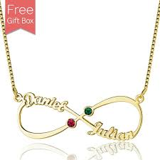 name necklace infinity images Personalized infinity name necklace with birthstones in gold jpg