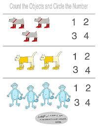 counting worksheets for preschool worksheets