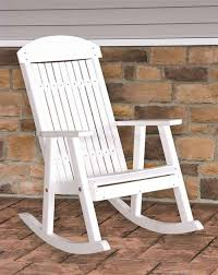 Luxcraft Outdoor Furniture by Amish Boutique Luxcraft Poly Porch Rocker