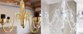 Easy Diy Chandelier The Chandelier Saga Diy Before And After Pictures Pink Little