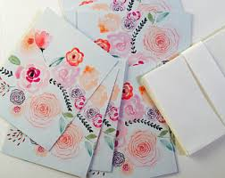 watercolor notecards watercolor notecards etsy
