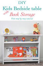 diy kids bedside table with book storage anika u0027s diy life