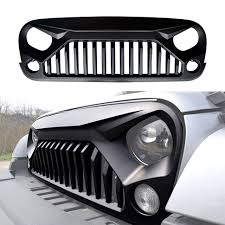 jeep light bar grill amazon com icars black front matte gladiator vader grille for