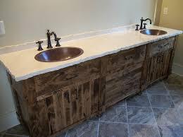 rustic bathroom sinks and vanities awesome rustic reclaimed wood bathroom vanity top best