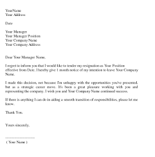 resignation letter format nice ideas sample professional