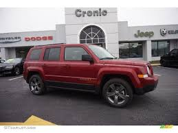 red jeep patriot 2015 deep cherry red crystal pearl jeep patriot high altitude