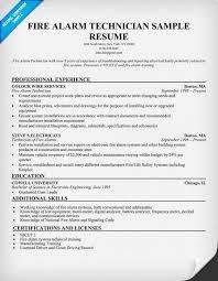 fire alarm technician resume sample http resumecompanion com