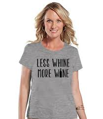 funny mom shirt less whine more wine womens white t shirt