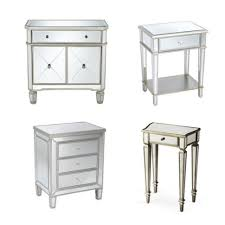 Silver Mirrored Bedroom Furniture by Bedroom Mirrored Glass Drawers Curved Mirrored Bedside Table