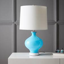 Small Blue Desk Lamp West Elm Rejuvenation Colored Glass Table Lamp Small West Elm