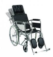 reclining wheelchair chrome 18