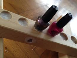 diy nail polish shelves and then enjoy