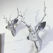 deer head home decor decorations fake deer antlers for create swanky ranch style home