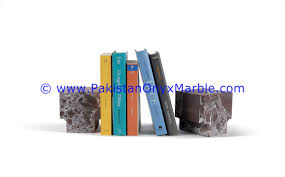 marble bookends cube square handcarved unique designs natural