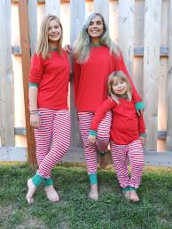 matching family pajamas and white striped we match