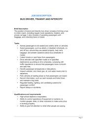 bus driver transit and intercity job description template