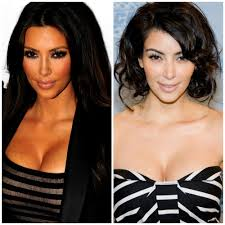 see what the kardashians look like with and without a spray tan