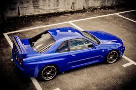 Image Nissan Skyline Gt R Blue R34 Parking Blue Auto Metallic