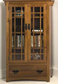 Wood Bookcase With Doors Cherrystone Furniture Mission Bookcase With Drawer And Wood