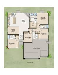 ranch floor plans with 3 car garage the santa cruz home plan by stonefield home in meadowlands