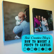 how to mount a photo to canvas tutorial 5 00 gift hello