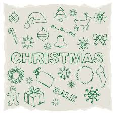 green christmas sketch illustrator vector free vector graphic