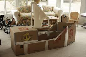 diy cardboard pirate ship amanda medlin