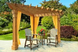 Moroccan Patio Furniture Decorating Interesting Pergola Design With Cream Outdoor Curtain