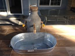 outdoor kitchen faucet outdoor kitchen custom made faucet with galvanized tub sink yelp