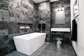 Bathroom Tile Ideas Black And White Modern Black And White Bathrooms Amazing Unique Shaped Home Design