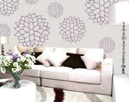 Large Wall Stickers For Living Room by Dahlia And Daisy Wall Decals Large Wall Stickers Floral