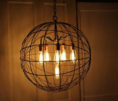 Industrial Chandelier Lighting Orb Chandelier Industrial Sphere Id Lights