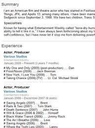 Entertainment Industry Resume Famous Resumes What Job Seekers Can Learn Thestreet