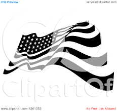 Black And White Us Flag American Flag Black And White Clipart
