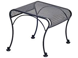 Landgrave Patio Furniture by Woodard Briarwood Wrought Iron Ottoman 400086