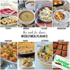 Dinner For The Week Ideas Weekly Menu Plan The Idea Room