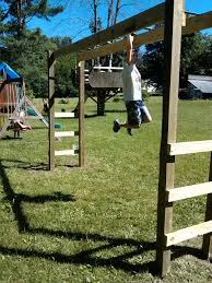 How To Build A Wooden Playset How To Build Monkey Bars My 100 Backyard Design Action Economics