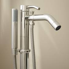 caol freestanding tub faucet with hand shower bathroom polished nickel