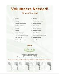 volunteer brochure template volunteer flyer template free word templates