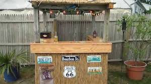 back yard custom tiki bar youtube