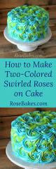 turquoise u0026 lime green swirled buttercream roses cake rose cake
